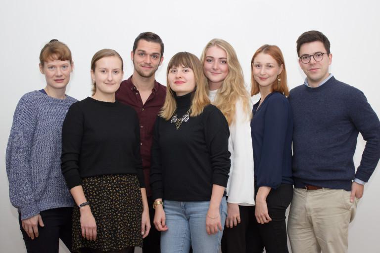 Team Oktober 2016 v.l.n.r.: Hannah, Kira, Kilian, Ekaterina, Anne, Anna, Johann